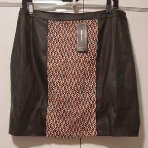 Bcbgmaxazria leather mini skirt NWT
